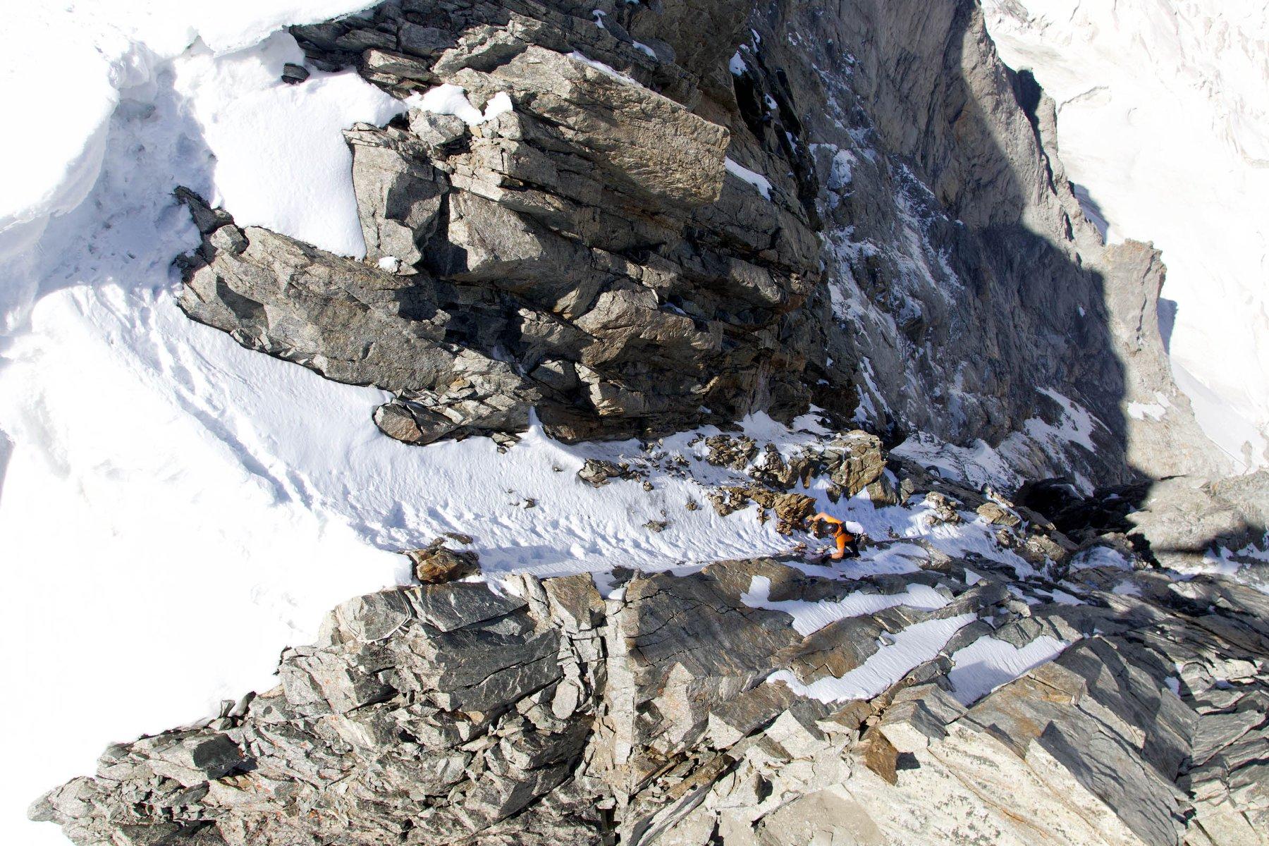 Klettergurt Für 4 Jährige : Dani arnold in 2 stunden und 4 minuten durch die grandes jorasses